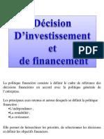 cours décisions d'investissement et de financement