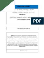 PLANO de ENSINO Comunicacao Organizacional