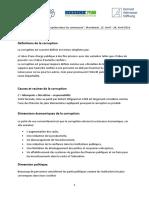 Handout - Corruption _ Dimensions Économiques