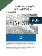 4 Días Para Invertir Según Los Principios Del Value Investing