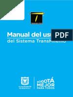 Manual Del Usuario de TransMilenio 2019-1