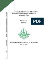 B.ed Study Report