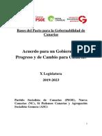 Acuerdo Gobierno Progreso Cambio Para Canarias