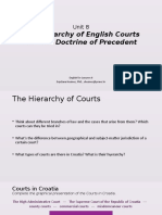 Unit 8.the Hierarchy of English Courts
