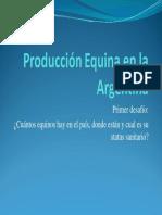 Produccion Equina en La Argentina