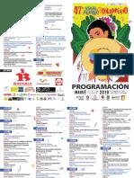 47° Festival Folclórico Colombiano - Cronograma
