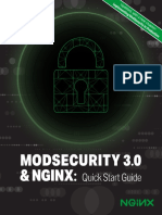 ModSecurity 3 NGINX Quick Start Guide
