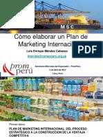 Plan Marketing Internacional 2017 Capacitaciones