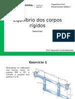 MEC I-Estática Dos Corpos Rígidos - Exercícios