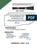 Plan Seguridad- Academia - Aful Ferreñafe