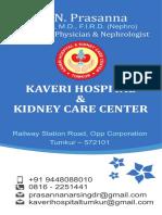 Kaveri Hospital Dr Prasanna Vcard