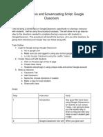 screencasting script   task analysis