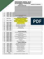 Cronograma Ingenieria- Psicología
