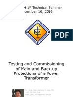 TC of Main and Back Up Protections of Power Transformers
