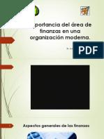 Importancia Del Área de Finanzas en Una Organización OK