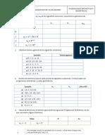 5° Progresión aritmética y geométrica Ejercicios
