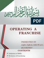 Franchising Presentation