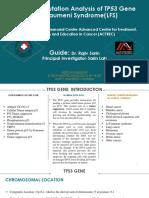 Germline Mutation Analysis of TP53 Gene - Aditi Majumdar