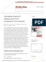 Velocity-Displacement-Accelearation