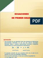 PPT - Ecuaciones de Primer Grado