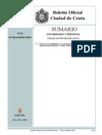 Estructura Gobierno Ciudad Ceuta 2019-22022