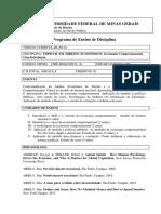 DIP068 - Tópicos Em Direito Econômico - Introdução à Economia Comportamental