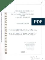 Simbolo de La Cultura Tiwanakota