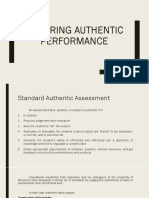 Ensuring Authentic Performance