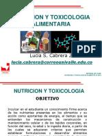Nutricion y Toxicologia- 1 Clase 2019 Actualizado