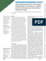 2019 Protocolo Manejo Simplificado en RN Con RPM Con Alta Tasa de Sepsis y Mortalidad