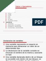 Diferentes tipos de datos y operadores