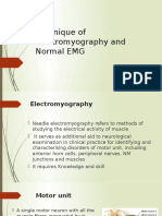 Technique of Electromyography And