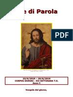 Sete di Parola - Corpus Domini - XII Settimana T.O. - C.doc