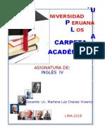 Carpeta Académica Inglés IV Administración