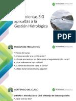 Herramientas SIG Aplicadas a La Gestión Hidrológica