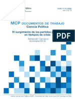 El Surgimiento de Los Partidos Politicos en Tiempos de Crisis
