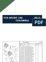 TVS - SPORT 100 - 2012