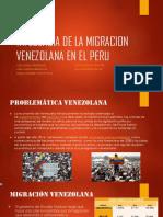 Migracion Venezolana en El Peru