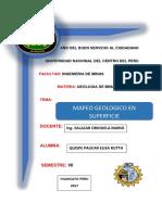 GEOLOGIA Y MAPEO DE CAMPO