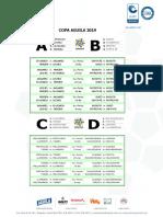 Fixture Copa Aguila 2019