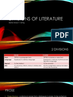 Divisions of Literature (1)