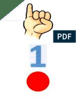 Manito Con Dedos Levantados - Numero Asociado y Pelotitas