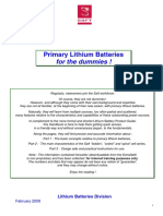 Primary Lithium Battery Guide (TM SAFT Li 200802 en)