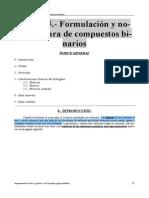 Apuntes Del Tema 5 (Formulación y Nomenclatura de Compuestos Binarios)