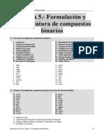 Ejercicios RESUELTOS Del Tema 5 (Formulación y Nomenclatura de Compuestos Binarios)