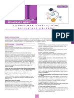 Li-MnO2 Lithium Manganese Dioxide Rechargeable (ML_13e)