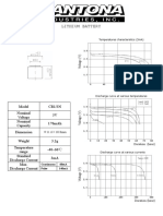 Dantona 3V CR1-3N 170mAh Datasheet 2019
