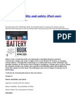 Battery Reliability and Safety