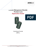 Lithium Manganese Dioxide - Application Guide - UltraLife (BR_CR_Design_App_Doc)