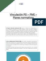 Vinculación PEI – PME – Planes normativos (2).pptx